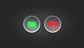 Bottone in bianco e nero stabilito in tondo e bottoni quadrati fotografie stock