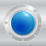 Bottone blu Fotografia Stock Libera da Diritti