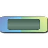 Bottone blu e verde Fotografia Stock Libera da Diritti
