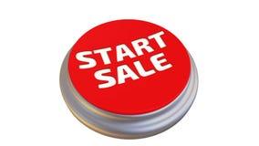 Bottone con il ` di VENDITA di INIZIO del ` di parola nell'azione illustrazione di stock