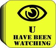 Bottone d'avvertimento della camma del Cctv Immagini Stock Libere da Diritti