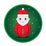 Bottone del Babbo Natale Fotografie Stock Libere da Diritti