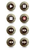Bottone del giocatore di controllo della stella Immagine Stock