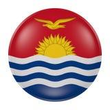 Bottone del Kiribati su fondo bianco Fotografia Stock Libera da Diritti
