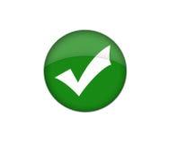 Bottone del segno di spunta Fotografia Stock
