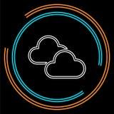 Bottone del tempo della nuvola - nuvola di vettore piovosa royalty illustrazione gratis
