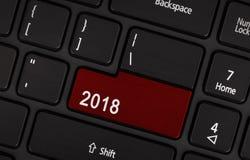Bottone del testo 2018 Fotografie Stock