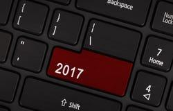 Bottone del testo 2017 Fotografie Stock