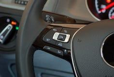 Bottone del volante Fotografie Stock