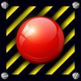 Bottone dell'allarme Immagini Stock