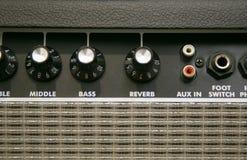 Bottone dell'amplificatore Fotografia Stock Libera da Diritti