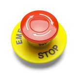 Bottone dell'arresto di emergenza Immagini Stock Libere da Diritti