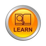 Bottone dell'icona del libro di ricerca royalty illustrazione gratis