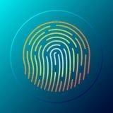 Bottone dell'impronta digitale Illustrazione di vettore royalty illustrazione gratis
