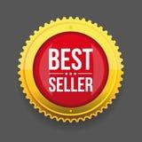 Bottone dell'oro del best-seller Fotografie Stock