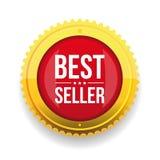 Bottone dell'oro del best-seller Fotografia Stock Libera da Diritti