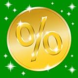 Bottone dell'oro di moneta Fotografie Stock Libere da Diritti