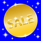 Bottone dell'oro di moneta Immagini Stock Libere da Diritti