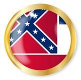 Bottone della bandiera del Mississippi Immagine Stock Libera da Diritti