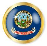 Bottone della bandiera dell'Idaho Fotografia Stock