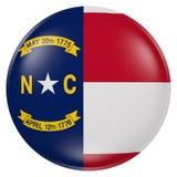 Bottone della bandiera della Nord Carolina Fotografia Stock Libera da Diritti