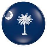 Bottone della bandiera di Carolina del Sud Fotografia Stock Libera da Diritti