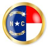 Bottone della bandiera della Nord Carolina Fotografie Stock Libere da Diritti