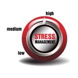 Bottone della gestione dello stress Immagine Stock Libera da Diritti