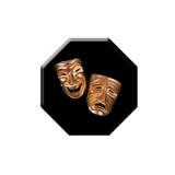 Bottone della maschera Fotografia Stock