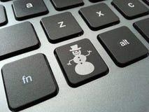 Bottone della tastiera del pupazzo di neve Immagini Stock Libere da Diritti
