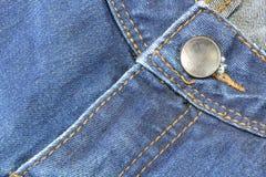 Bottone delle blue jeans Immagini Stock Libere da Diritti
