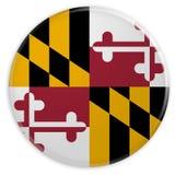 Bottone dello stato USA: Illustrazione del distintivo 3d della bandiera di Maryland su fondo bianco illustrazione di stock