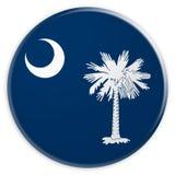 Bottone dello stato USA: Illustrazione del sud di Carolina Flag Badge 3d su fondo bianco royalty illustrazione gratis