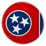 Bottone dello stato USA: Illustrazione di Tennessee Flag Badge 3d su fondo bianco illustrazione di stock