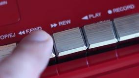 Bottone di andata veloce sul registratore archivi video