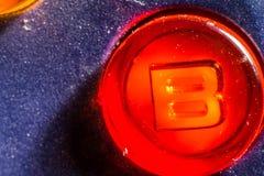 Bottone di B Immagine Stock