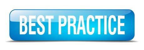 bottone di best practice Illustrazione Vettoriale