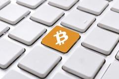 Bottone di Bitcoin Fotografia Stock