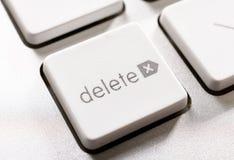 Bottone di cancellazione Immagini Stock