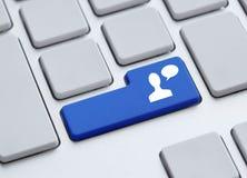 Bottone di chiacchierata Immagine Stock Libera da Diritti