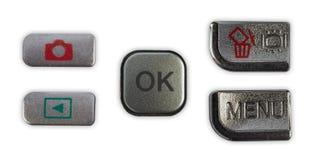 Bottone di Chrome Fotografie Stock Libere da Diritti