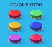 Bottone di colore messo sulla tavola Fotografia Stock Libera da Diritti