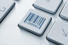 Bottone di commercio elettronico Fotografie Stock Libere da Diritti