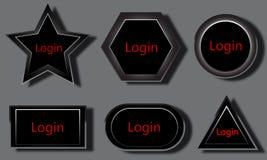 Bottone di connessione Immagine Stock Libera da Diritti