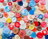 Bottone di cucito variopinto Fotografia Stock Libera da Diritti