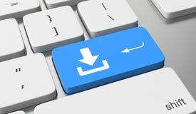 Bottone di download Fotografie Stock