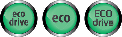 Bottone di Eco Fotografie Stock Libere da Diritti