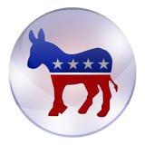 Bottone di elezioni di Democratici royalty illustrazione gratis