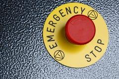 Bottone di emergenza Fotografia Stock Libera da Diritti