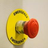 Bottone di emergenza Immagine Stock Libera da Diritti